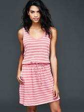 Gap Women's Linen-Cotton Pink Striped Tie Dress Size XS Petite