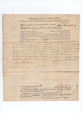 Sam Freeman SIGNED 1804 Maine court document - Ezekiel Whitman - Jabez Churchill