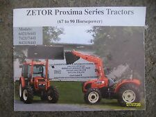 Vintage Zetor Proxima Series Tractors 67 to 90 Horsepower Booklet