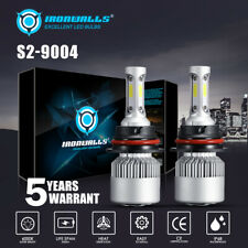 IRONWALLS 9004 HB1 LED Headlight Bulbs High&Low Beam 2000W 300000LM 6000K White