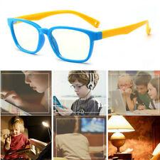 Kids Children Soft Frame Blue Light Blocking Eyeglasses UV Proof Baby Glasses