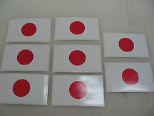 8 JAPAN modern FLAG Sticker Decal LOT 4 car Window Truck suv Wholesale Japanese