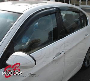 Vent Window Visors Rain Guard Out-Channel 2.0mm BMW 530i 535i Wagon 06-10 4pcs