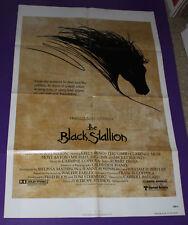 THE BLACK STALLION ORIGINAL FOLDED MOVIE POSTER 1979 MICKEY ROONEY 27X41 COPPOLA