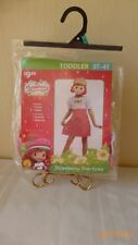 Rubies Strawberry Short Cake Halloween Costume Toddler Size 3T - 4T 2014 New