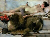 Art Canvas Print Poster Nude Female Art Paintings Lawrence Alma-Tadema SM 8x10