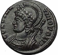 Constantine I The Great founds CONSTANTINOPLE 330AD Ancient Roman Coin i56396