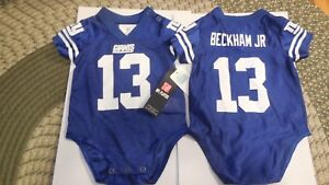 Odell Beckham Jr Baby Jersey onies Outfit6-9Months New York Giants Blue  NWT