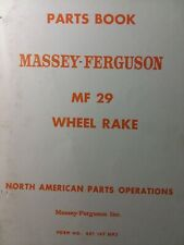 Massey Ferguson Farm Tractor Mf 29 Wheel Rake Implement Attachment Parts Manual