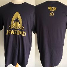 "SHARK WEEK (2017) Official ""JAWSOME"" Discovery Channel Promo T-Shirt Size Large"
