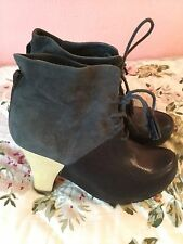 Rare Designer Jeffrey Campbell Leather And Suede Ankle Boots- Fits Uk 6- £400!