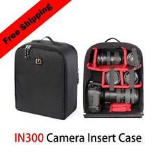 DSLR  Camera Bag backpack Luggage Insert laptop Padded Partition Case Lens F