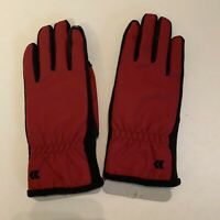 NWOT Isotoner Signature Red Women's Gloves Fleece-Lined Touchscreen Technology
