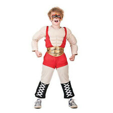 Child Wrestler Costume Boys Muscle Chest Fighter Celebrity Book Week Fancy Dress Age 4 - 6 Years