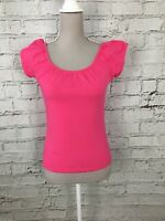 WALLIS - Pink Off-Shoulder Elasticated Short Sleeve Top - Womens - Size 10