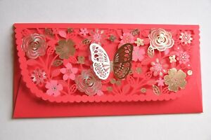 3 Pcs - Chinese Wedding Butterfly Red Envelope