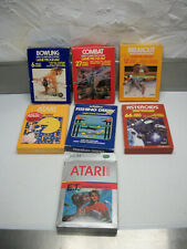Lot of 7 Atari Games With Cases Pac-Man E.T. Asteroids Breakout Fishing Derby