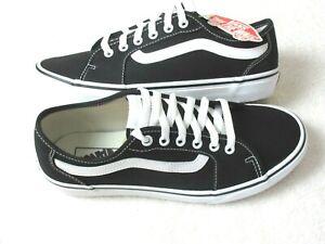 Vans Men's Filmore Decon Classic Canvas Skate Shoes Black White Size 9 NWT