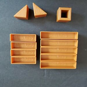Angry Birds Knock on Wood Building Blocks Lot 12 Girders Squares