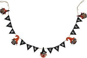 Mud Pie H1 Halloween 60''Gnome Fabric Garland 40540002 Choose Design