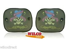 CAR SUN SHADES PAIR Ed Hardy Love Kills Slowly Rear Small Sun shade x2 36cm-44cm
