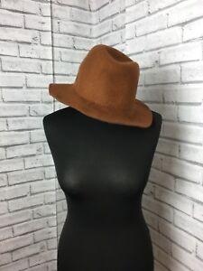 Lindex 100% Wool  Light Brown Cloche Hat Women's 1940s