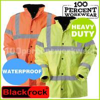 Heavy Duty Waterproof High Visibility Work Safety Parka Coat Jacket Hi Vis Viz