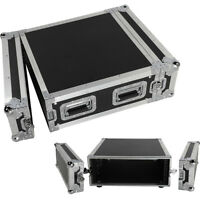 19 Inch Space Rack Case Single Layer Double Door 4U DJ Equipment Cabinet Black