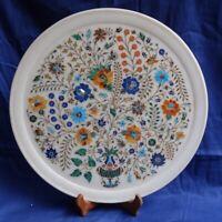 Marble Plate Inlay Pietra Dura semi precious Handmade Art Crafts Home Decor