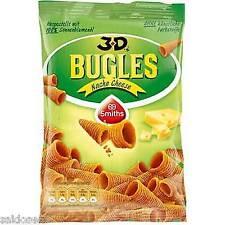 12 Tüten Bugles 3 D Nacho Cheese  a 100 g frisch Orginal 3 D