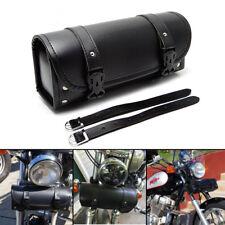 PU Leather Tool Bag Handlebar Sissy Bar Saddlebag Front Fork for Harley Suzuki