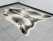 Cowhide Rug Area 8' X 6.2' Leather Fur RUG Faux Cow Hide Print Rug Animal Skin