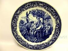 "Vintage BOCH, Belgium Ceramic 15"" Blue & White Wall Plate c1950"