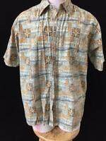 Weekender mens Hawaiian shirt size M short sleeve 100% cotton