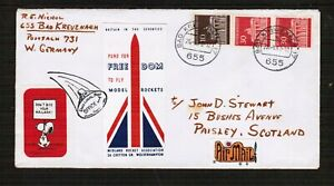 Germany 1978 Rocket Mail Post Cover