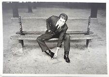 VTG 1984 BLACK & WHITE Leonard Cohen DOMINIQUE ISSERMANN France POSTCARD 4X6 NOS
