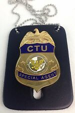 24 CTU Special Agent Badge Prop Replica New - As seen on the Fox TV series.