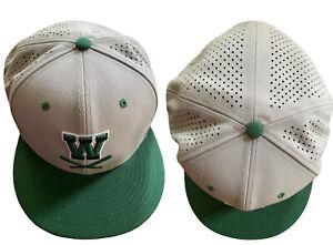 """Nike True Dri-Fit """"W"""" Baseball Cap Green/Gray Sz 8 64cm New Fitted Softball Hat"""