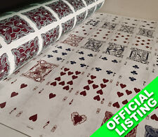 UNCUT SHEET of Bicycle Legacy RED Playing Cards