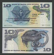 PAPUA NUOVO GUINEA - 10 kina 1985 P7 Fior di conio ( Banconote )