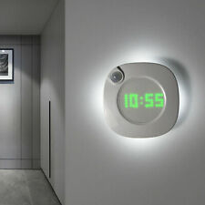 Reloj de pared LED digital con sensor de movimiento PIR Luz nocturna