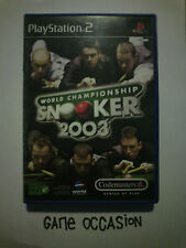 WORLD CHAMPIONSHIP SNOOKER 2003 PS2 PLAYSTATION 2 SONY COMPLET PAL