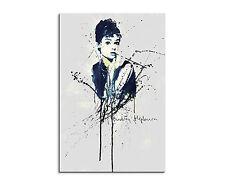 90x60cm-PAUL SINUS Splash Art Audrey Hepburn Schauspielerin Geschenkidee