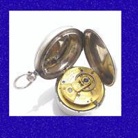 Silver Fusee Milroy Edinburgh Fenestrated Balance Cock Hunter Pocket Watch 1871