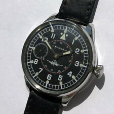 in Steel Case Aviator Pilots Ww2 Rare Big Military Doxa Swiss Wristwatch