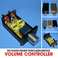 HiFi Passive Preamp Stereo Audio Booster Volume Controller for Power Amplifiers