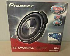 "Pioneer TS-SW2502S4 1200 Watt 10"" TS Series Shallow Mount Single 4 ohm Sub NEW"