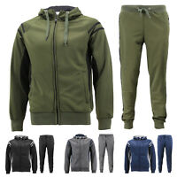 Men's 2 Pcs Casual Working Out Jogging Hooded Running Gym Fitness Tracksuit Set