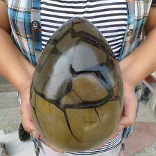 14.6LB Large Dragon Septarian Crystal Sphere Geode Egg Healing Madagascar