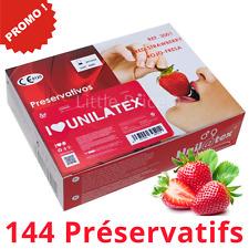 Boîte de 144 Préservatifs Unilatex Fraise - Norme CE - Livraison Rapide